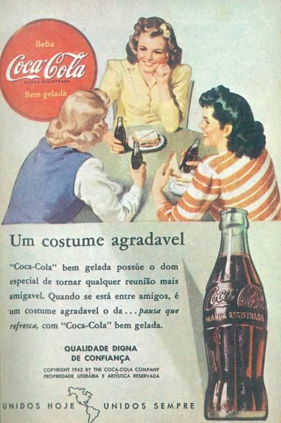 Um clássico: a Coca-Cola é até hoje referência em publicidade