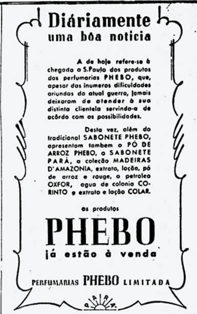 Phebo: dificuldades de fornecimento durante o conflito