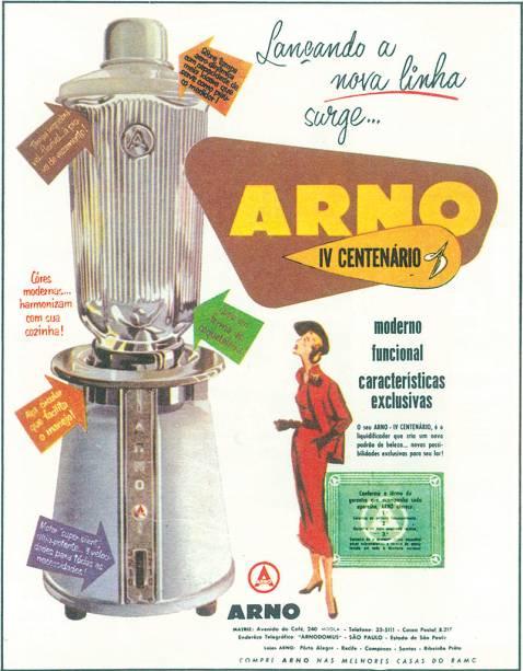 Eletrodomésticos Arno: linha em homenagem ao IV Centenário da cidade