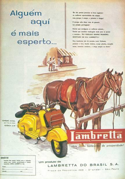 Lambretta: melhor do que cavalos