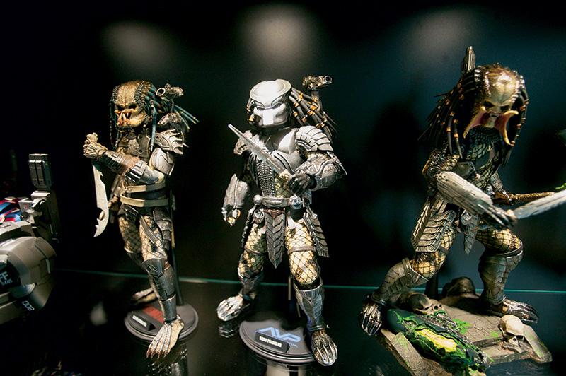 Miniaturas do filme O Predador com acessórios intercambiáveis