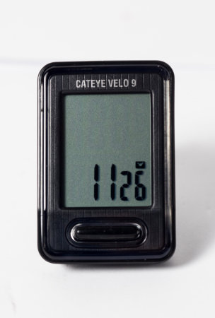 Ciclocomputador Cateye Velo 9, 120 reais, na Scattone Bike