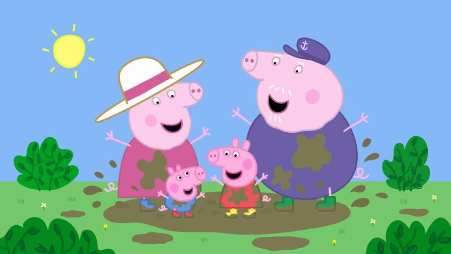 A versão da personagem e sua família que aparece na TV
