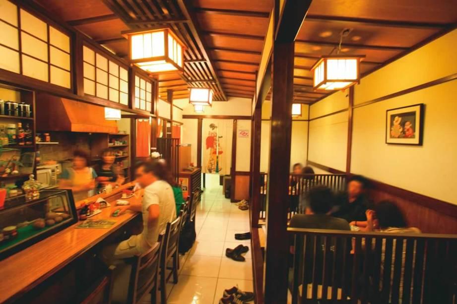 O tradicional salão do Izakaya Issa
