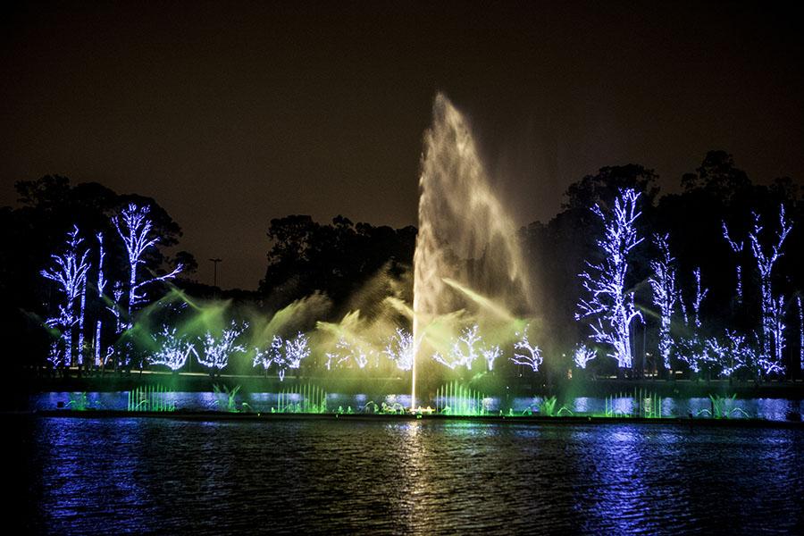 Fonte do Parque do Ibirapuera: espetáculo de cores e luzes dura apenas 25 minutos
