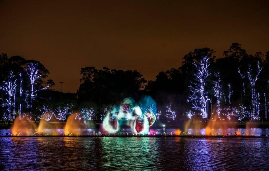 Fonte do Parque do Ibirapuera: público chega até 2 horas antes para garantir um bom lugar no gramado