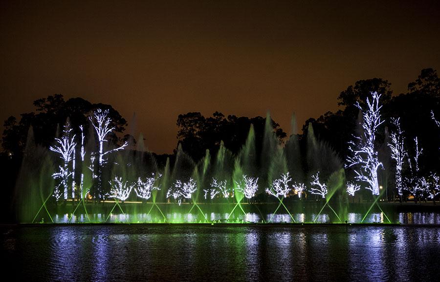 Show de cores e luzes encantam crianças e adultos no Parque do Ibirapuera