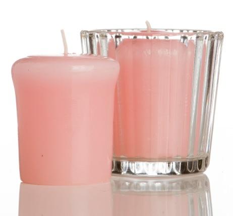 Camicado: jogo de velas rosas (R$ 9,90)