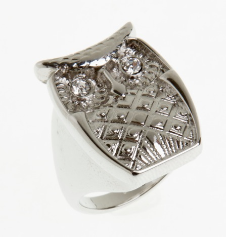 Paris Bijoux: anel coruja (R$ 9,23)