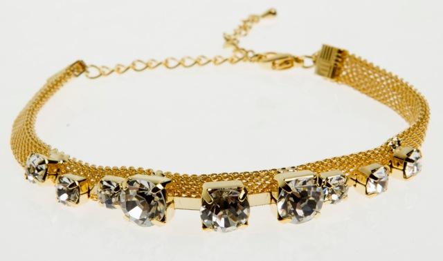 Paris Bijoux: pulseira com strass (R$ 14,04)