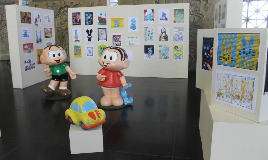 Mostra reúne desenhos de setenta artistas que retratam o inseparável amigo da Mônica