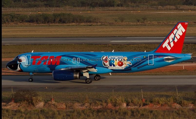 Mais procurados: aviões de companhias estrageiras e pinturas diferentes