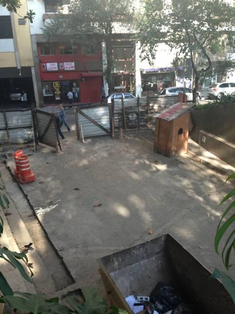 Garagem pública subterrânea: segundo prefeitura, obra será concluída em 2014