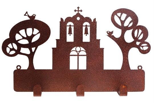 Porta-chaves de ferro da artista Eleonara Hoshino, R$ 298,00. Cores do Brasil, Shopping Villa-Lobos, tel.: 3022-8527.