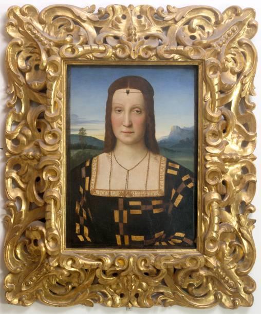 Rafael: Ritratto di Elisabetta Gonzaga, [Retrato de Elisabetta Gonzaga], sem data