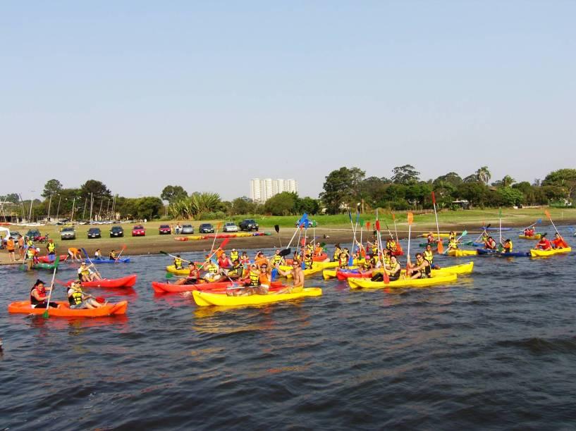 Na Represa Guarapiranga é possível curtir diversas modalidades aquáticas da Virada Esportiva