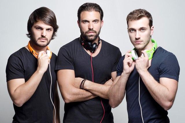 3Peat, os DJs Luiz Restiffe, Juliano Libman e Gabriel Fullen