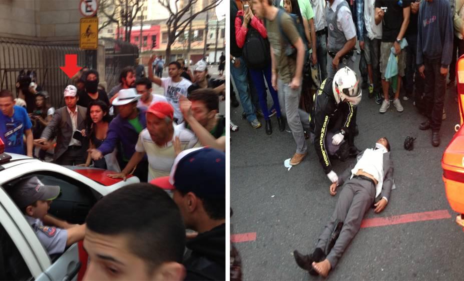 Jovem que tentava parar a viatura da PM para prestar socorro a manifestante ferido é atropelado