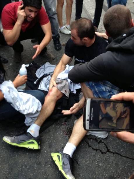 Daniel Mola foi atropelado por um corsa prata