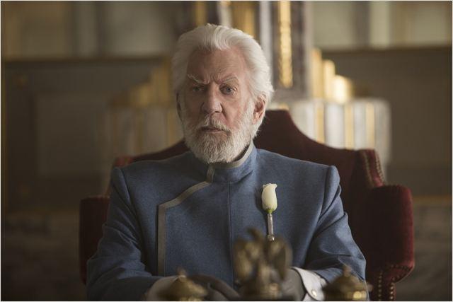 Jogos Vorazes: A Esperança - O Final: Donald Sutherland no papel do presidente Snow