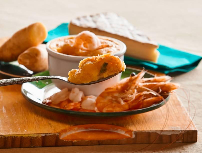 Festival do Escondidinho: camarão, queijo brie e purê de mandioquinha