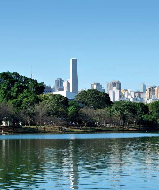 The Ibirapuera park: lake, cycle way, running track, museums and lots of green