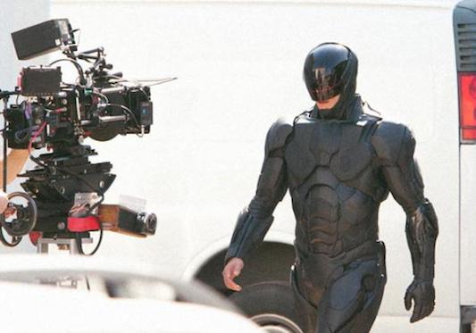 Imagem do set de Robocop: remake aguardado