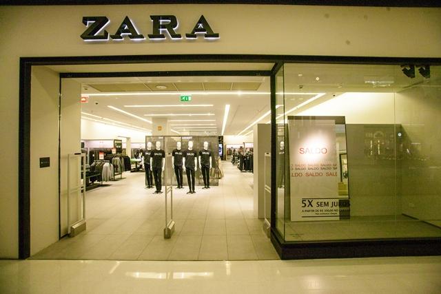 Fachada da Zara do Shopping JK Iguatemi: descontos de até 50% nas peças da fast-fashion espanhola