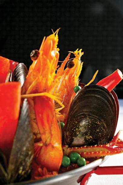 Paella: uma das opções do cardápio