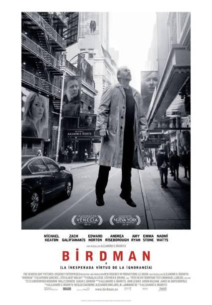 Birdman ou (A Inesperada Virtude da Ignorância): pôster do filme