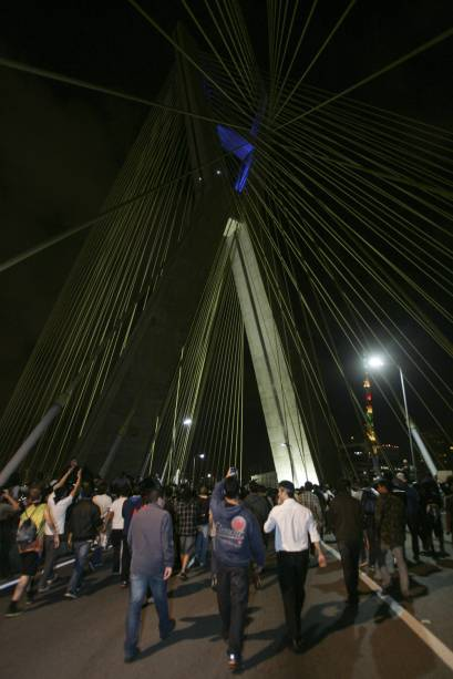 Aproximadamente 100 000 mil pessoas participaram da manifestação, segundo o Passe Livre