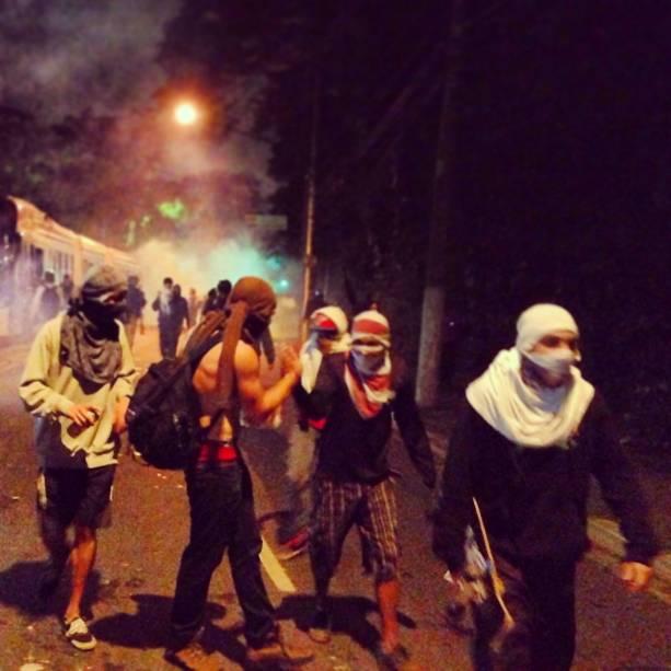 Fuga do gás lacrimogêneo