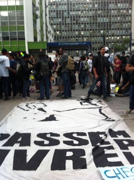 Protesto contra aumento da tarifa de ônibus: a manifestação é organizada pelo MOvimento Passe LIvre