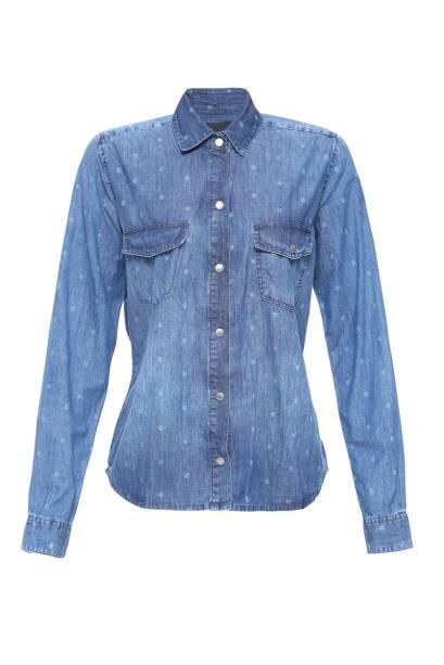 "Camisa jeans, R$ 279,00, da <a href=""http://www.damyller.com.br"" rel=""Damyller"" target=""_blank"">Damyller</a>"