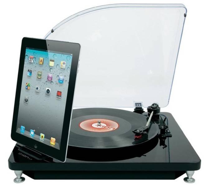"""Toca-discos com entrada para iPad, R$ 769,90, da <a href=""""http://www.loopday.com.br/"""" rel=""""Loopday"""" target=""""_blank"""">Loopday</a>"""
