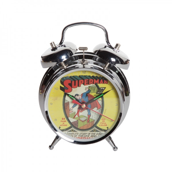 """Despertador do Superman, R$ 88,00, da <a href=""""http://www.designnmaniaa.com.br/siteNovo/"""" rel=""""Design Mania"""">Design Mania</a>"""
