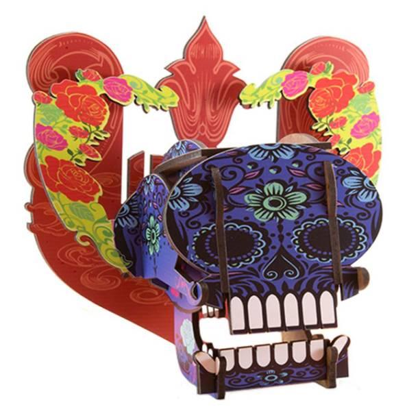 """Mini caveira mexicana de MDF, R$59,00, da <a href=""""http://www.designnmaniaa.com.br/siteNovo/"""" rel=""""Design Mania"""">Design Mania</a>"""