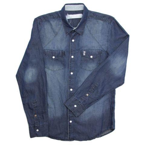 """Camisa jeans com linho, R$ 398,00, do <a href=""""http://loja.sergiok.com.br/"""" rel=""""Sérgio K."""" target=""""_blank"""">Sergio K.</a>"""