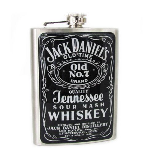 Cantil de uísque Jack Daniels, R$39,00, da Design Mania