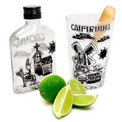 Kit para caipirinha de cordel encantado, com copo e garrafa, R$ 44,00, da Design Mania