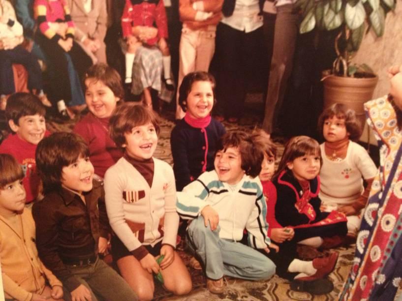 Aniversário de Eduardo, quando criança: sobrado estava sempre cheio de amigos