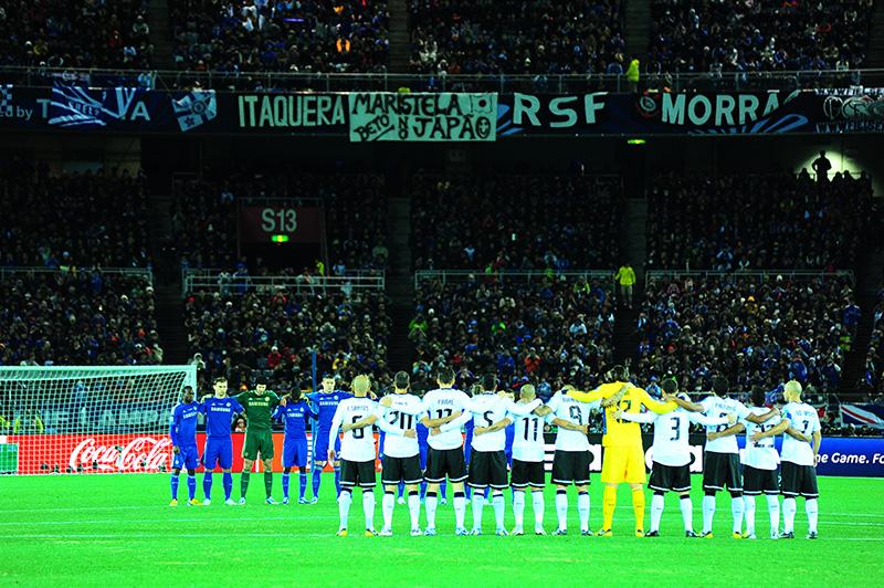 O hino nacional foi um momento de grande emoção no estádio