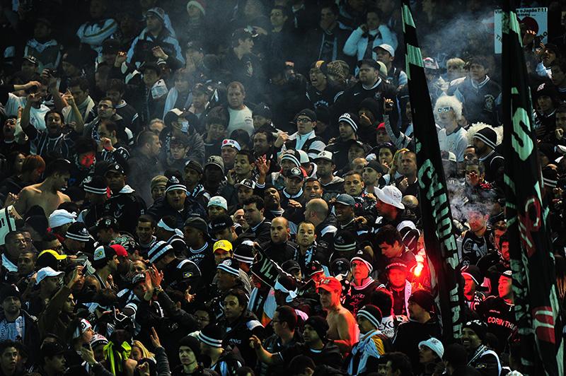 A Fiel marcou presença no Japão. Mais de 10 mil torcedores estiveram no jogo