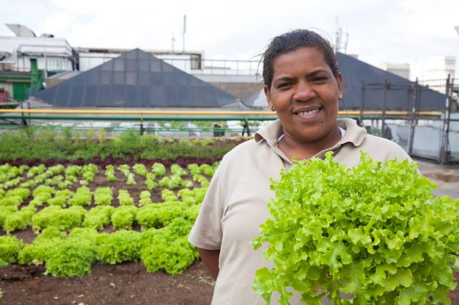 Miriam Reis da Silva, auxiliar de compostagem do Shopping Eldorado