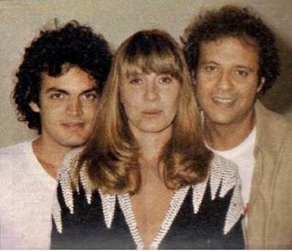 """Com Buza Ferras (à esq.) e Denis Carvalho na novela """"Brilhante"""" (1981)"""