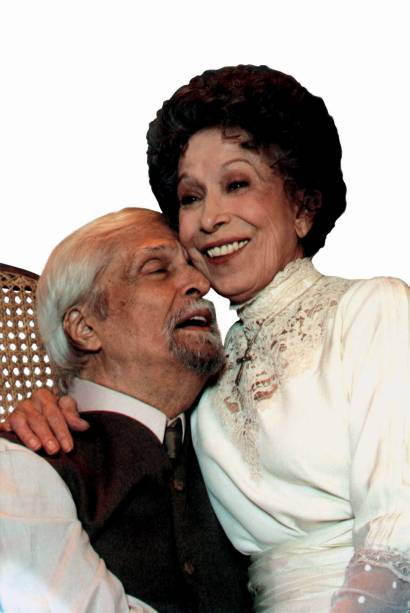 Em 2003: Sérgio Britto e Cleyde Yáconis na peça Longa Jornada de um Dia Noite Adentro, no CCBB