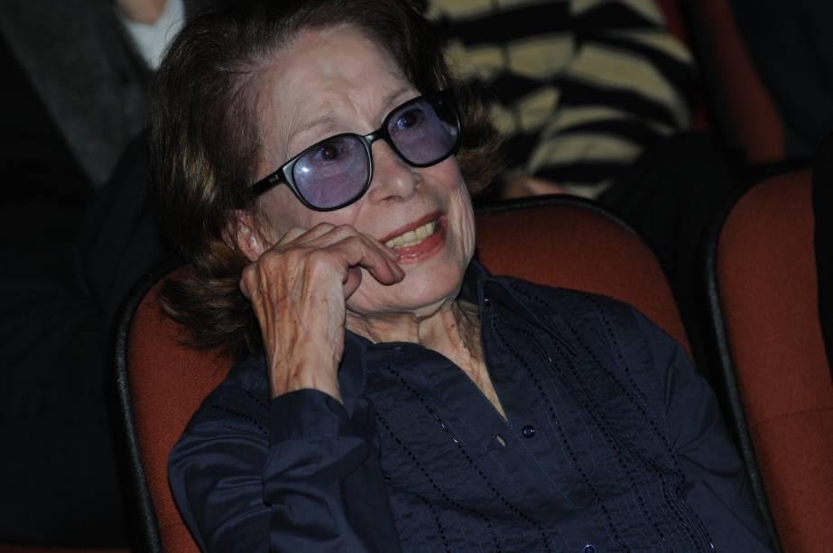 Em 2009: na inauguração do Teatro Cleyde Yáconis, em homenagem a atriz, no antigo Teatro Cosipa Cultura