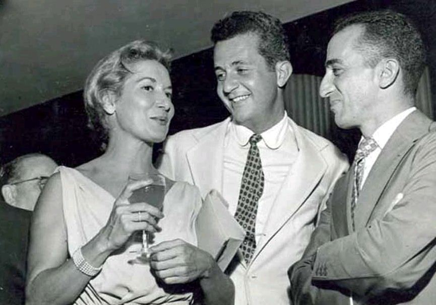 Cleyde Yáconis com Fredi Kleemann e Millôr Fernandes, 1958