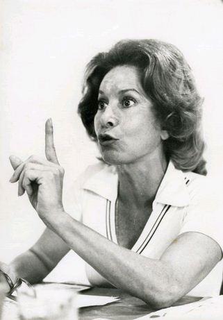 A atriz Cleyde Yáconis em entrevista ao Serviço Nacional de Teatro em 1975
