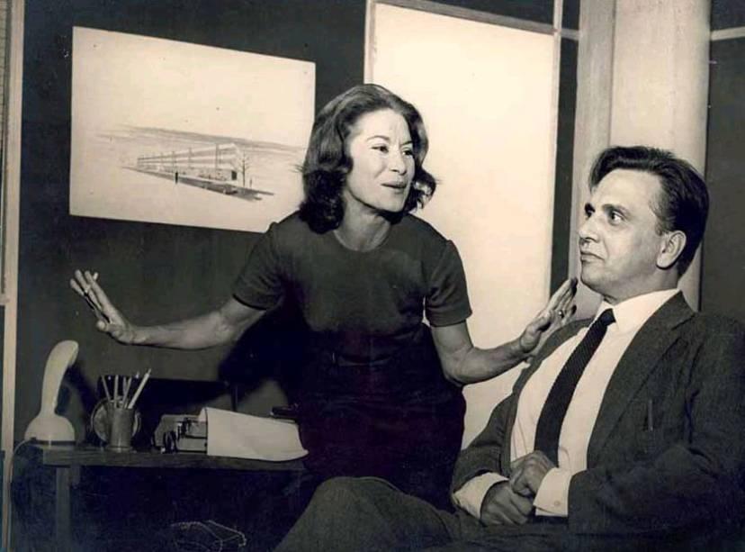 Cleyde Yáconis e o ator Jorge Dória